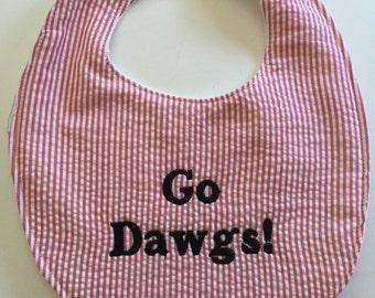 University of Georgia Go Dawgs Baby Bib 165070864