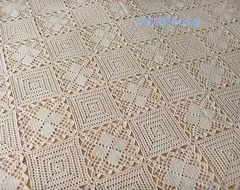 Crochet Pattern - Bedspread - 2 Motif Design - CHARTED