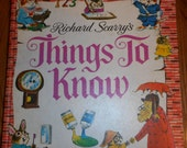 Richard Scarry's Things to Know-Vintage 1971 Look and Learn Library