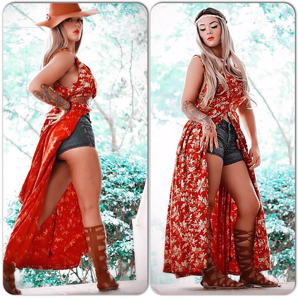 Vintage retro grunge Kimono dress Boho Kimono by TrueRebelClothing