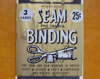 vintage century seam binding 3 yards in dark navy #25
