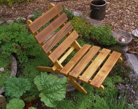 Cedar Chair for Outdoor Comfort - Color: Natural Cedar - Storable! - handcrafted by Laughing Creek