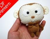 Monkey Plush PDF Pattern -Instant Digital Download