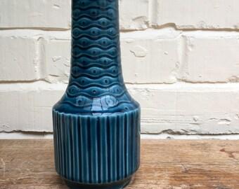 Sadlers England - Vintage Teal Blue Ceramic Vase