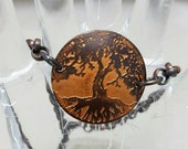 Etched Copper Tree of Life Bracelet