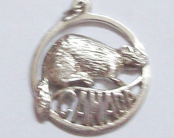 Canada Beaver Sterling Silver Charm