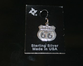 Free USA Shipping! Sterling Silver Arizona Route 66 Charm