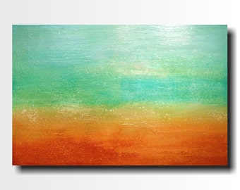 Original Abstract Large painting - 24 X 36 FREE US Shipping JMJartstudio mistaken-Wall art-wall decor - painting--Ocean Blue