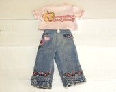 Jeans and Pink Tshirt - 18 inch walking doll clothes
