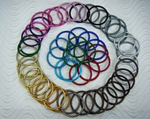 Large Lightweight Aluminum Rings for Baby Slings Designed for Baby Carriers Make your own Ring Sling Solid Non Welded Light Weight Rings