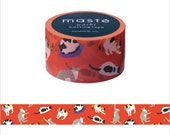 Mark's Japanese Washi Masking Tape - Japan Series / Japanese Cats 20mm wide for packaging, party deco, crafting