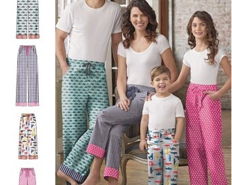 Lounge Pants with Pockets Pattern, Adult Lounge Pants, Teen Lounge Pants Pattern, Childs' Lounge Pants, Simplicity Sewing Pattern 8179