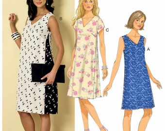 Pullover Dress Pattern, Loose Fit Dress Pattern, Butterick Sewing Pattern 6317