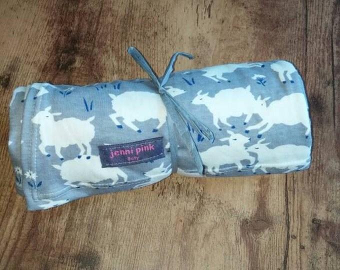 Gray Sheep Organic Baby Blanket