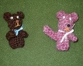 2 bear finger puppets