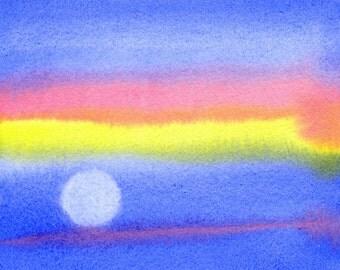 Orbit - Original Watercolor Painting