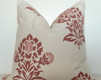 20x20 pillow, light pink and white pillow