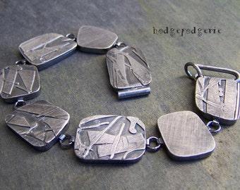 METAL MUSINGS - Fused Sterling Silver Wearable Art Bracelet