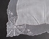 """Hankie French Tambour Lace Edge Bridal Wedding 10"""" Square"""