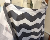 Sale Christmas in JULY Nursing Cover with Pockets Grey and white chevron Great price