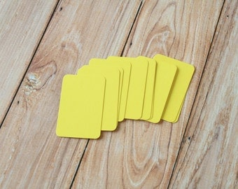 50pc LEMON Yellow Eco Series Business Card Blanks