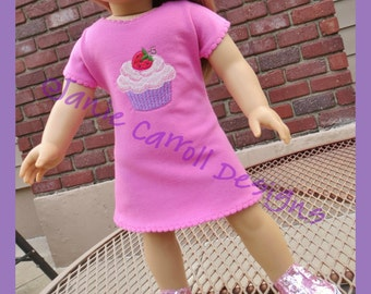 "Ezy T Great Lengths  t-shirt pattern for 18""  dolls such as the American Favorite"