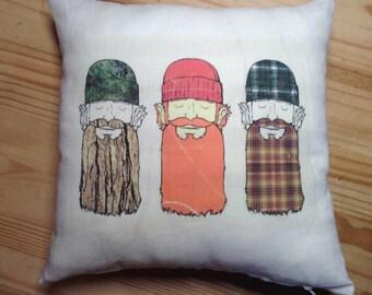 Lumberjack decorative pillow