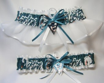 Miami Dolphins handmade wedding garters sports garter