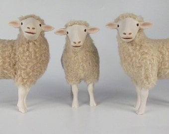 Porcelain Polypay Sheep Sculpture