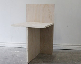 Plywood T-Chair or Side Table/Nightstand