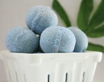 Blueberry -  mini fizzy bath bomb - handmade