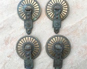 Art Deco Drawer Handle Pulls Hyer Hardware Signed and Numbered