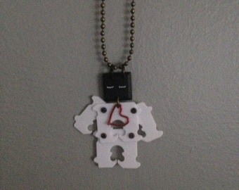 Upcycled Robot Necklace