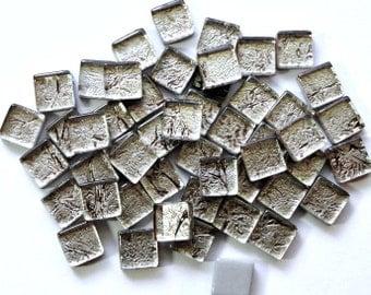 "MINI Antiqued Silver Pewter Foil Mosaic Tiles 3/8""/Mosaics//Mosaic Supplies//Mosaic Pieces"
