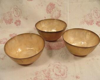 Capiz Shell Bowls - Three - Display - Mementos - Decor -