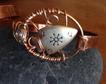 Buffalo Arrowhead Copper Bracelet