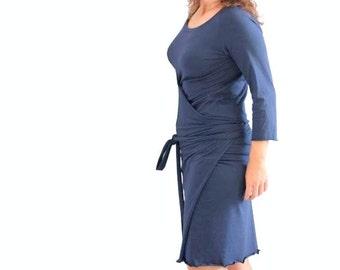 Wrap dress, Custom womens dress, Womens dress, Custom dress, plus size clothing, Knee length dress, Day dress, Casual dress, Formal dress