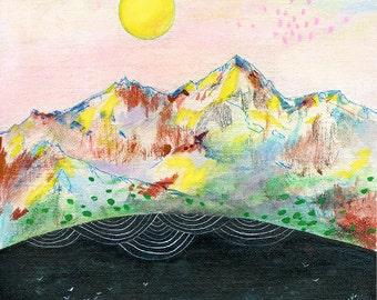 Melody // 8.5 x 11 eco-friendly wall art mountains print
