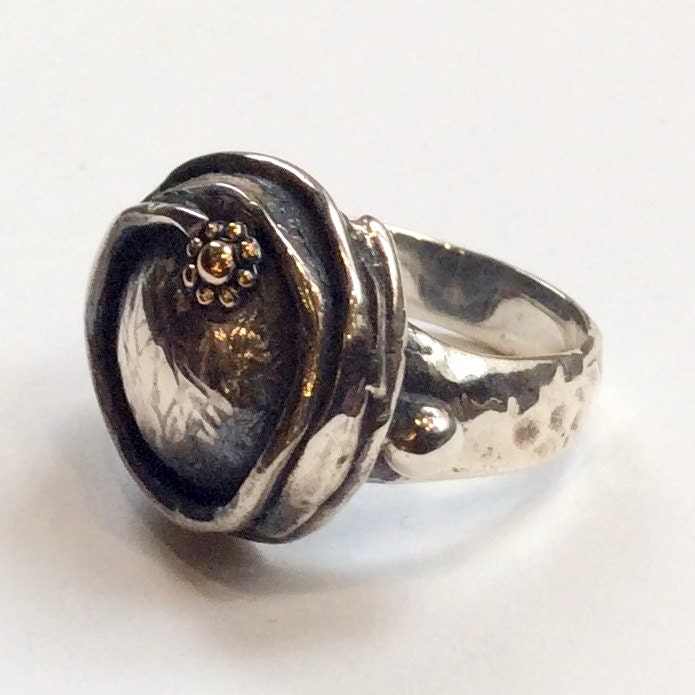 sterling silver engagement ring unique statement ring