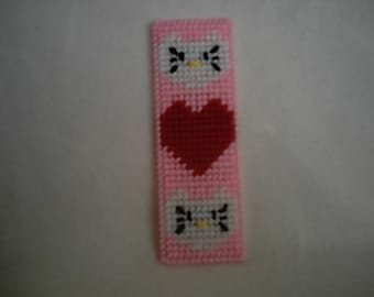 Plastic Canvas Pattern Hello Kitty Inspired Bookmark