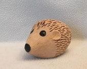 CUSTOM ORDER For Jennifer Snyder Hedgehog Wooden Goose Egg Wood Carving