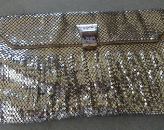 Vintage Silver Mesh Whiting and Davis Clutch Purse Saks Fifth Ave. Prom Wedding