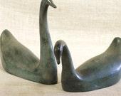 Swans , Brass Swans , Metal Swans , Birds , Water Birds , Water Fowl , Figurines , Metal , Pair , Set , Bird Figurine , Bird Collectibles