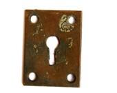 40% OFF SALE FREE Shipping Authentic Original Vintage Antique Brass KeyHole Escutcheon E1202