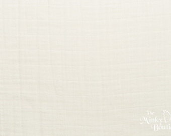Double Gauze Cotton Embrace - Ivory