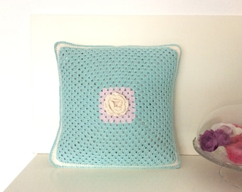 Granny pillow, crochet pillow, Granny Square, Handmade pillow