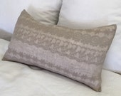 Sample sale Embroidered linen lumbar pillow