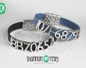 Greyhound Tattoo Leather Bracelet Choice of Color