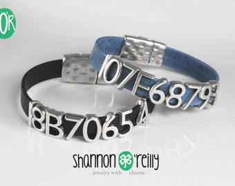 Greyhound Tattoo Leather Bracelet Snap Closure Choice of Color