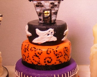 12th Scale Doll House Halloween Celebration 3 Tiered Cake